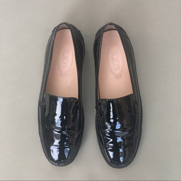 24f17585b85 Tod s black leather platform loafers. M 5b7c72520cb5aaa5f16069c2